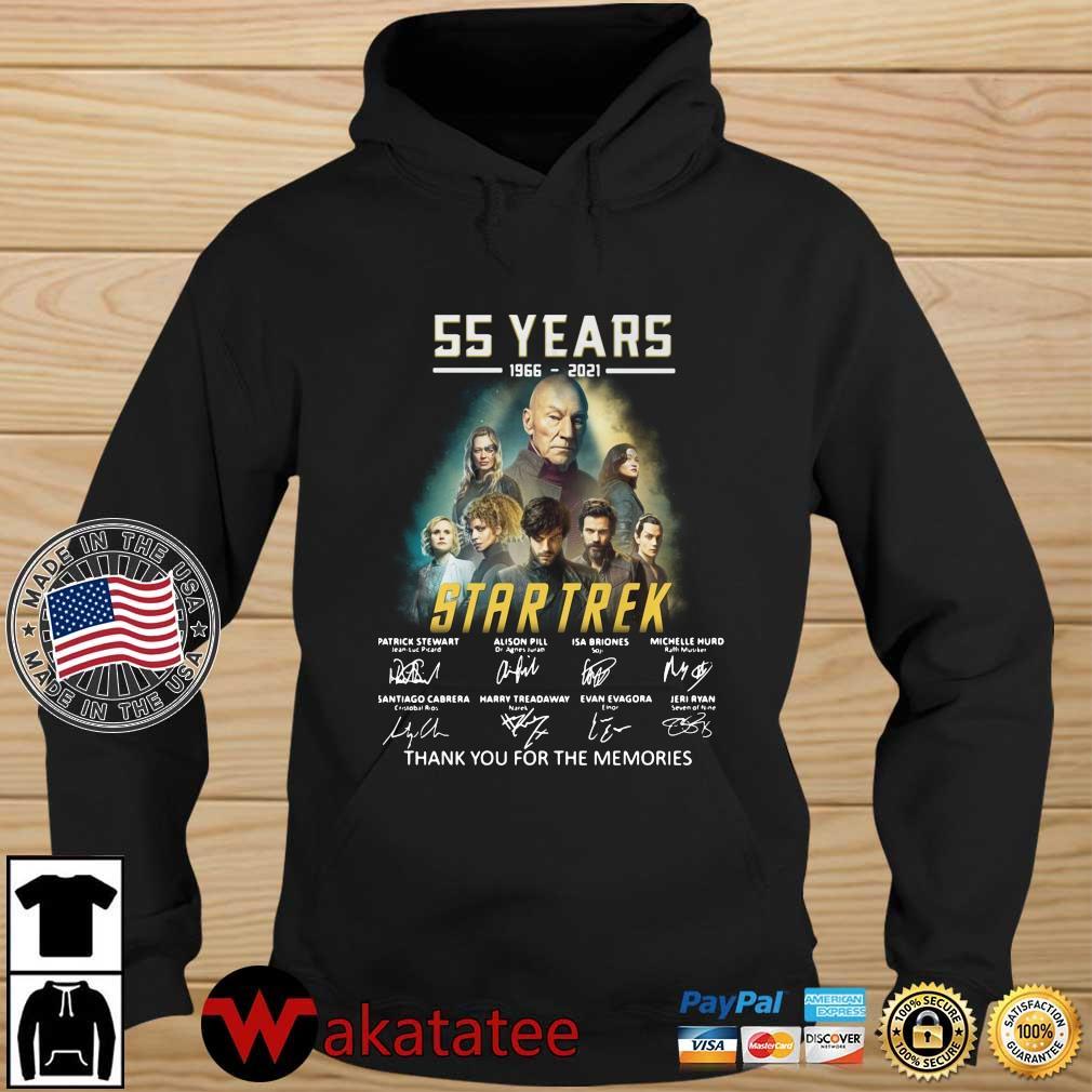 55 years 1966-2021 Star Trek thank you for the memories signatures s Wakatatee hoodie den