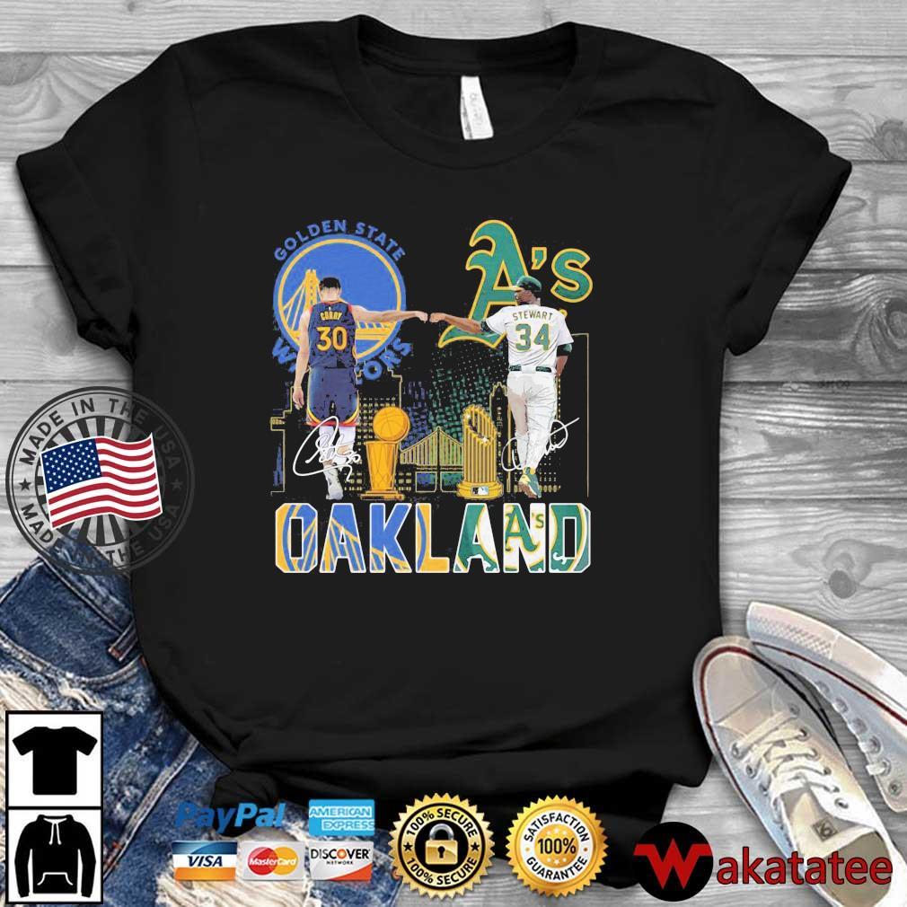 Golden State Warriors Stephen Curry Oakland Athletics Stewart Oakland shirt