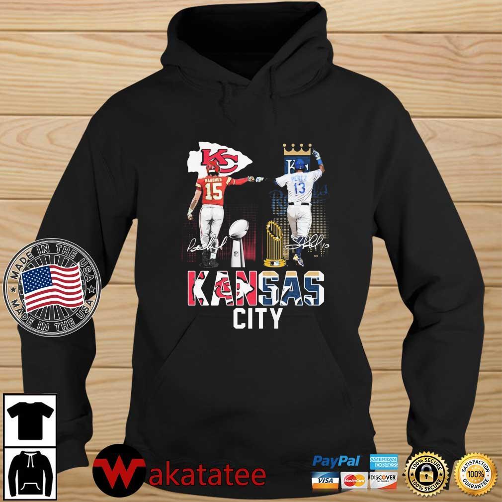 Kansas City Chiefs Mahomes Kansas City Royals Perez signatures s Wakatatee hoodie den