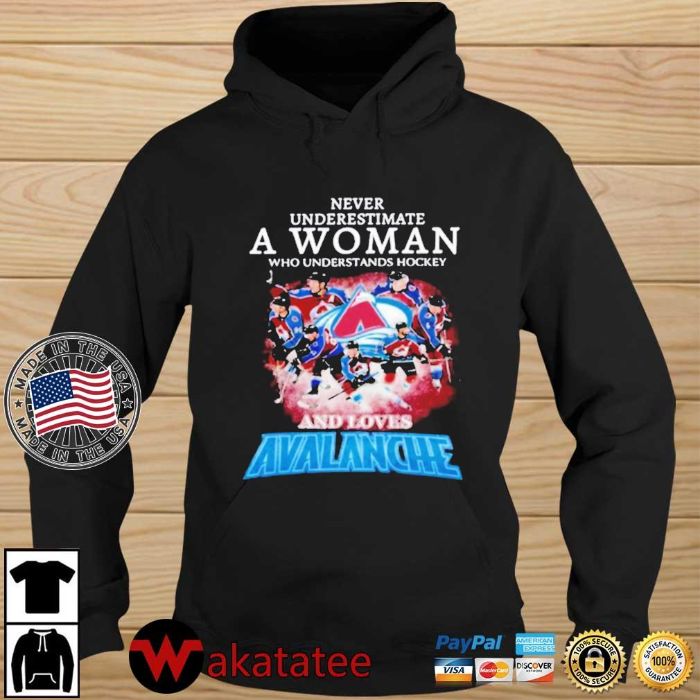 Never Underestimate A Woman Who Understands Hockey And Love Avalanche Shirt Wakatatee hoodie den