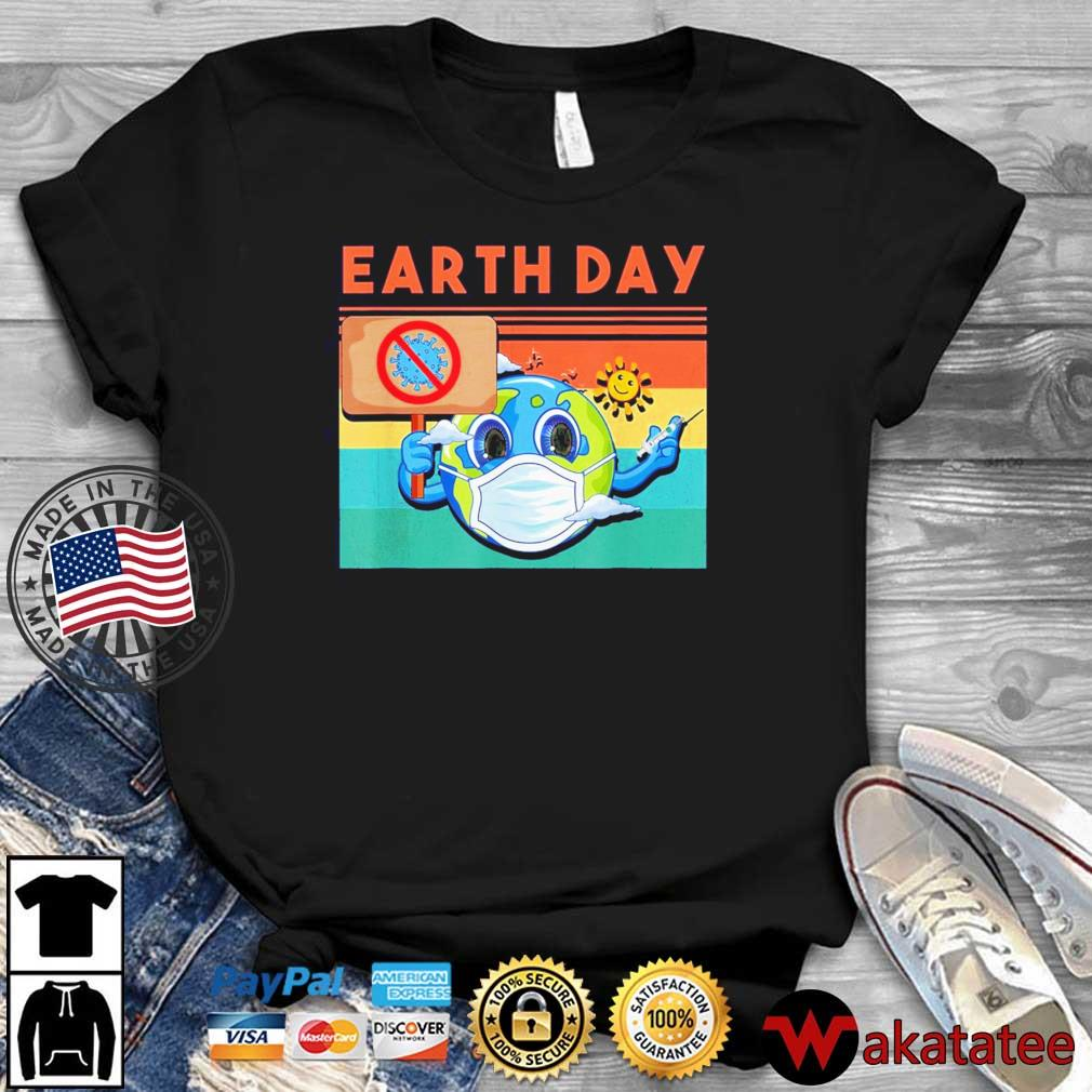 Planet Earth Wearing Mask Earth Day 2021 Shirt