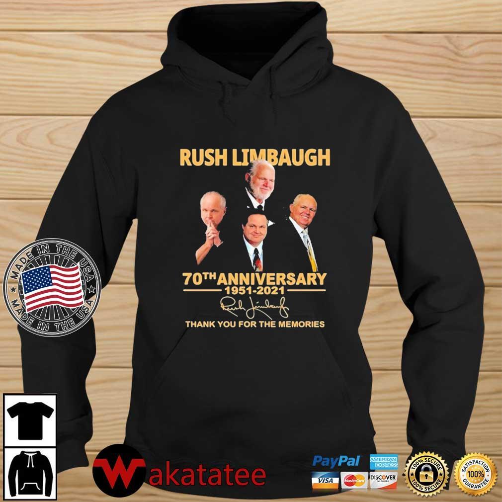 Rush Limbaugh 70th Anniversary 1951-2021 Signature Thank You For The Memories Shirt Wakatatee hoodie den