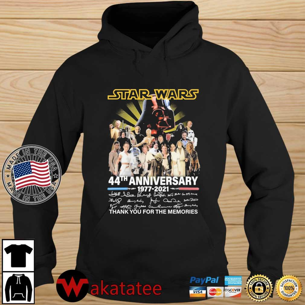 Star Wars 44th anniversary 1977-2021 thank you for the memories signatures s Wakatatee hoodie den