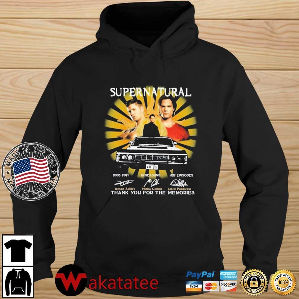 Supernatural Movie 2005 2021 Ackles Collins Padalecki Signatures Thanks For The Memories Shirt Wakatatee hoodie den