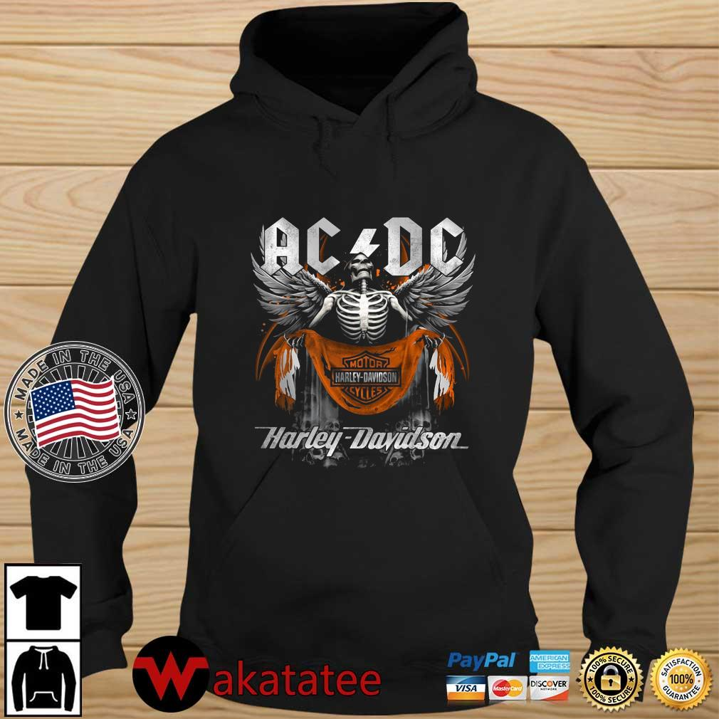Angel Skeleton AC DC Motor Harley Davidson Cycles Wakatatee hoodie den