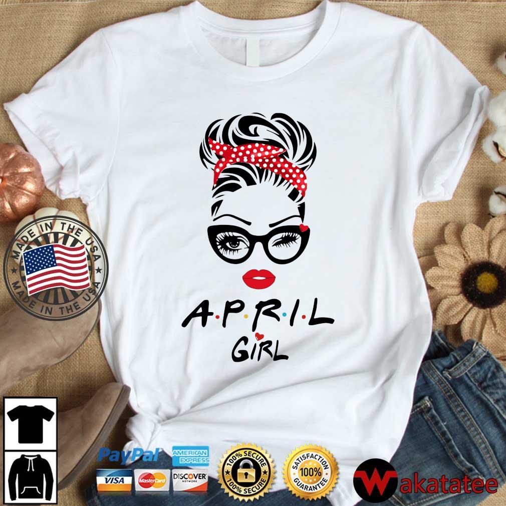 April Girl Face Wink Eye Shirt