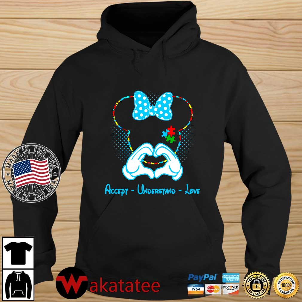 Autism Minnie Mouse love accept understand love Wakatatee hoodie den