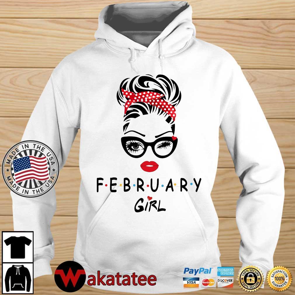 February Girl Face Wink Eye 2021 Shirt Wakatatee hoodie trang