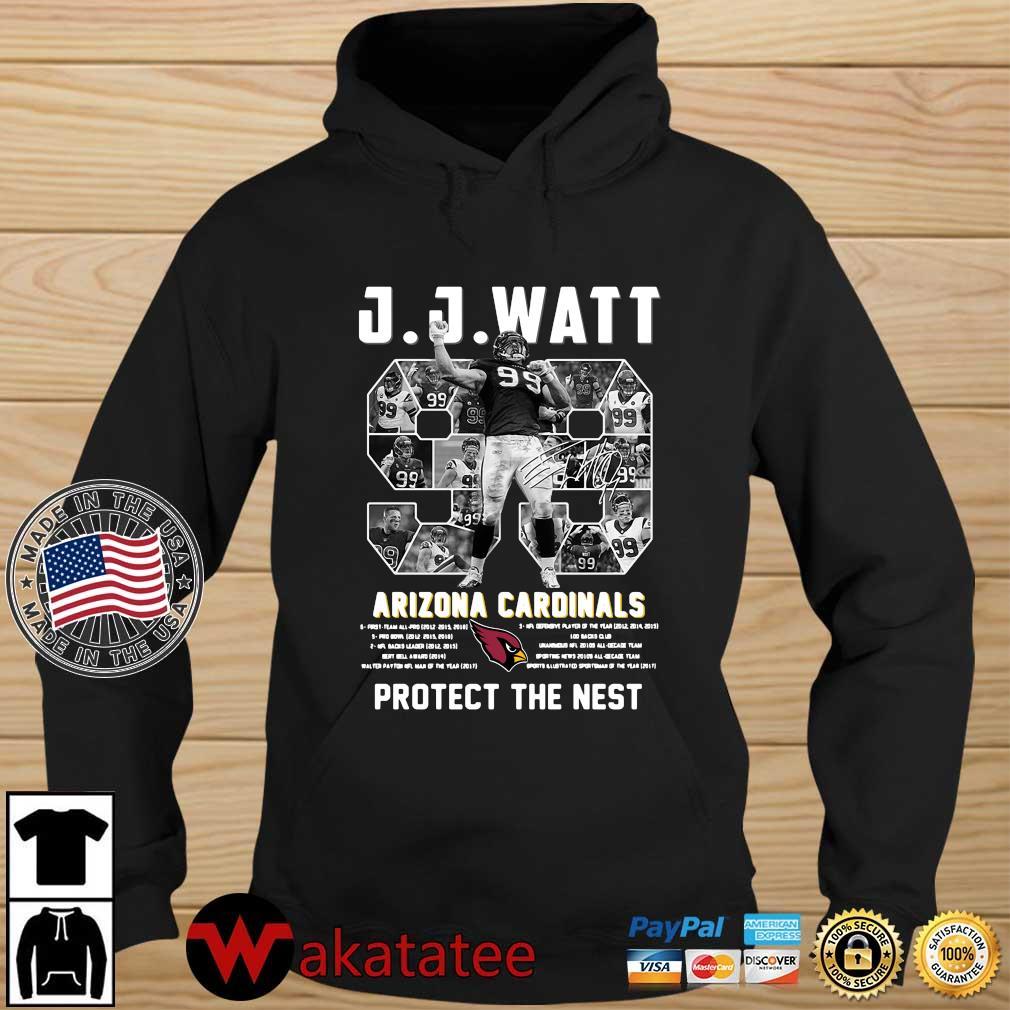 J J Watt Arizona Cardinals 99 protect the nest signature NFL Wakatatee hoodie den