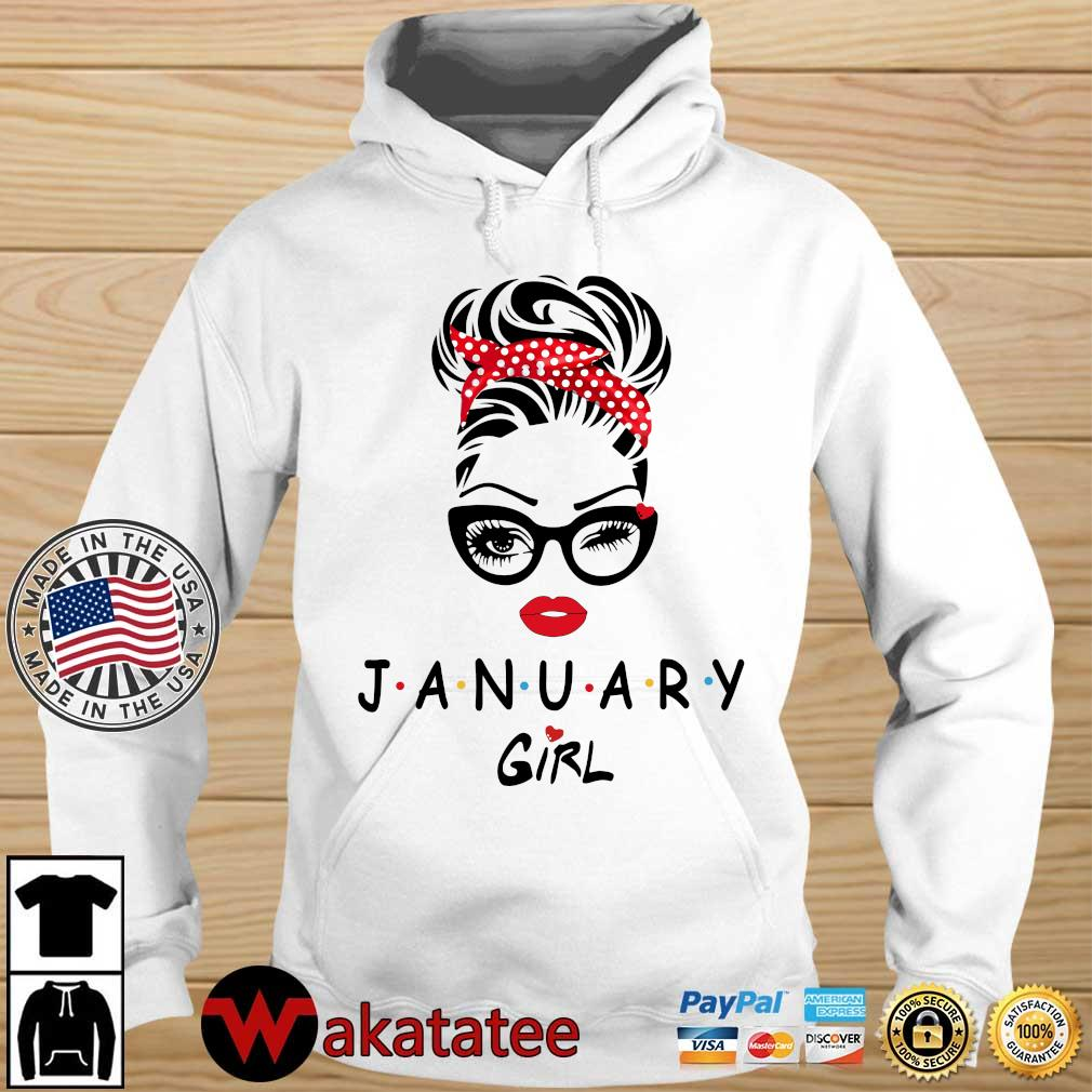 January Girl Face Wink Eye Shirt Wakatatee hoodie trang