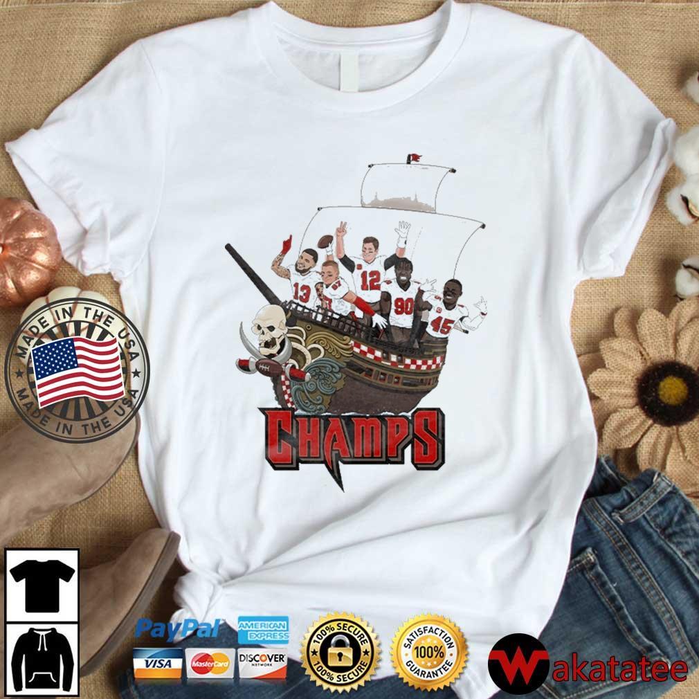 Tampa Bay Buccaneers Team Players Pirates Champs Shirt Wakatatee dai dien trang