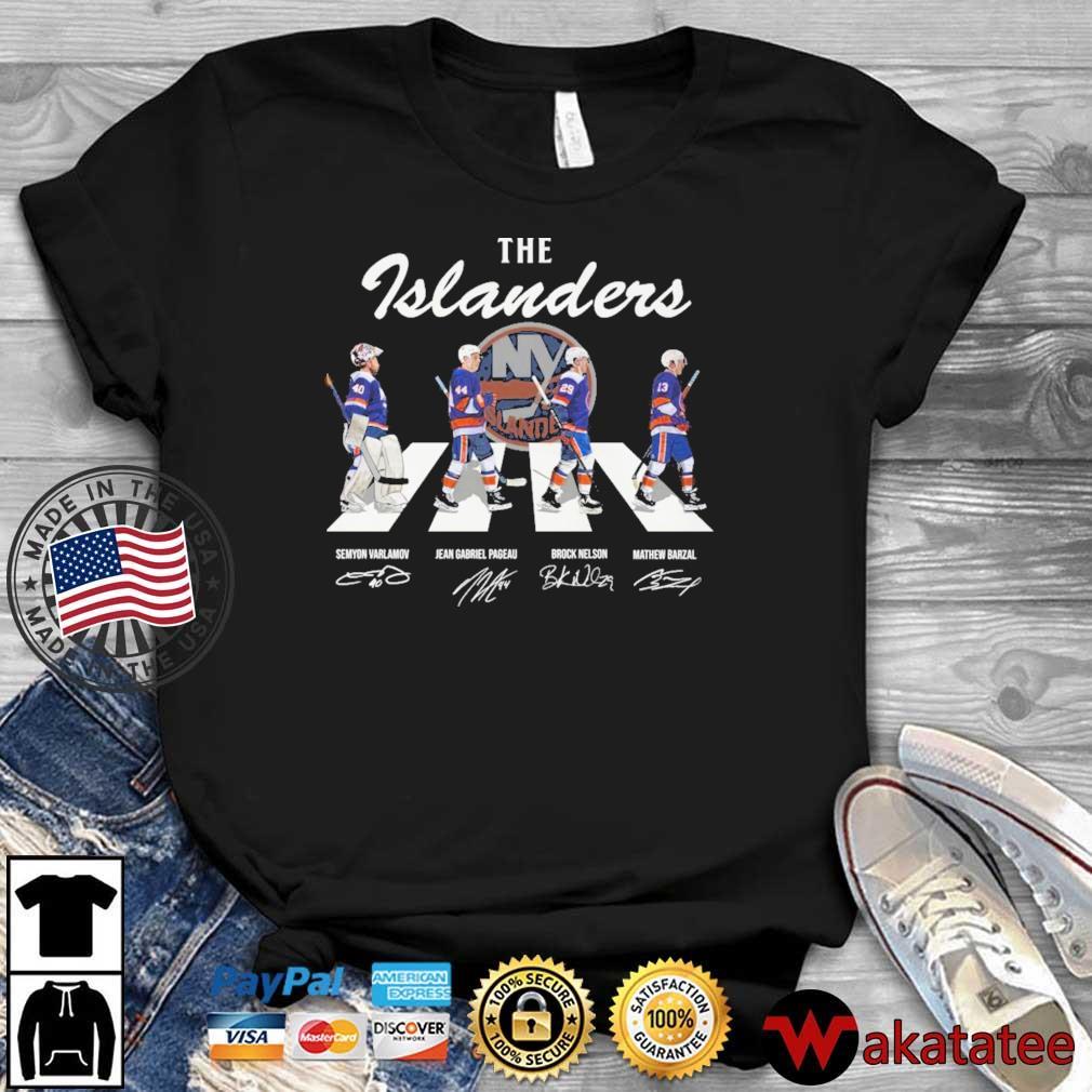 New York Islanders Hockey Team Abbey Road Signatures Shirt