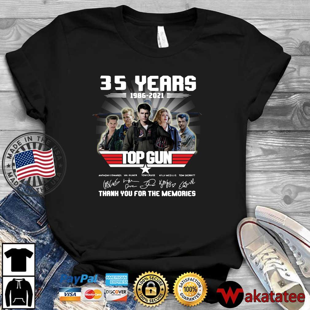 Official 35 years 1986-2021 Top Gun thank you for the memories signatures shirt