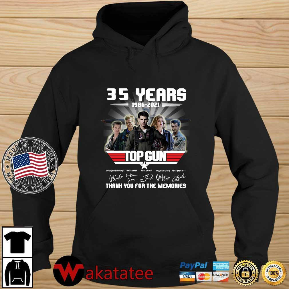 Official 35 years 1986-2021 Top Gun thank you for the memories signatures Wakatatee hoodie den