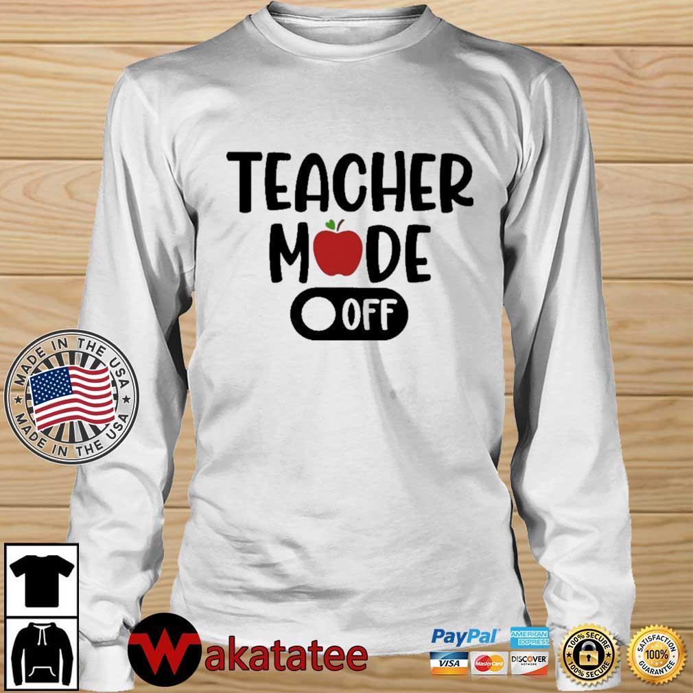 Teacher mode off Wakatatee longsleeve trang