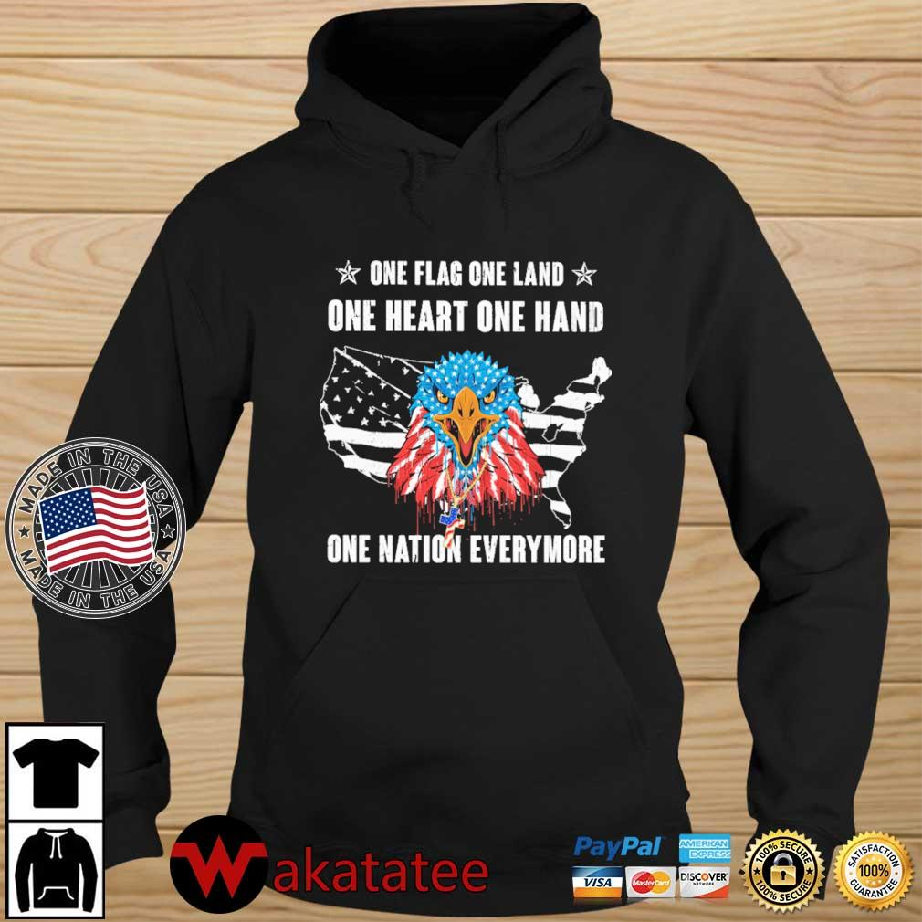 Eagles one flag one land one heart one hand one nation evermore 4th Of July s Wakatatee hoodie den