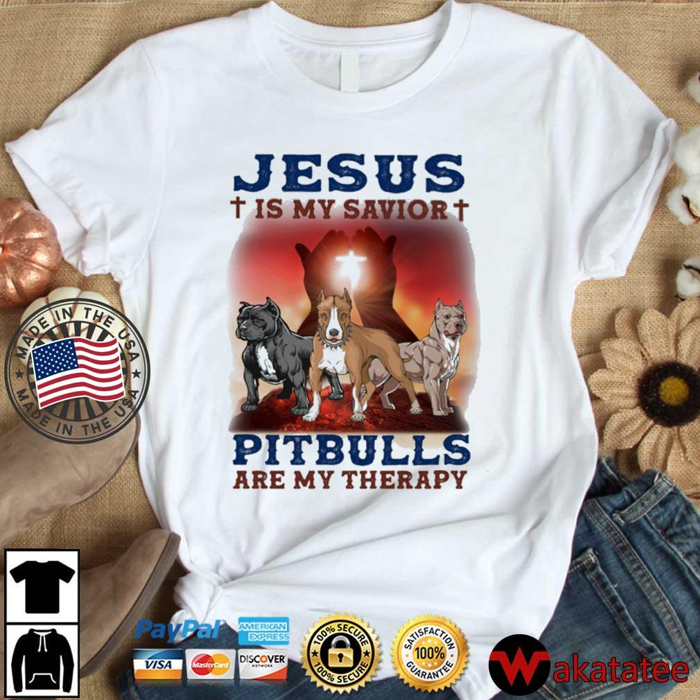 Pitbulls Jesus is my savior are my therapy s Wakatatee dai dien trang