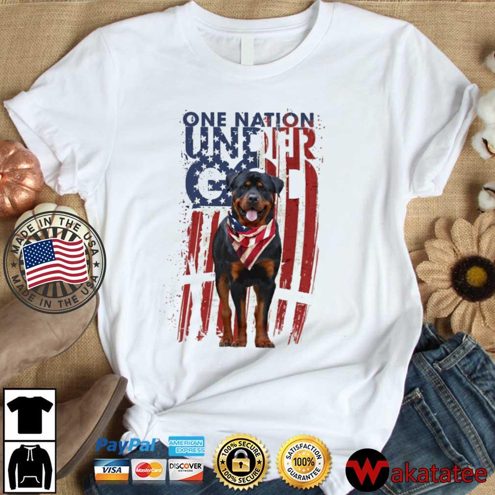 Rottweiler one nation under god American flag 4th Of July s Wakatatee dai dien trang