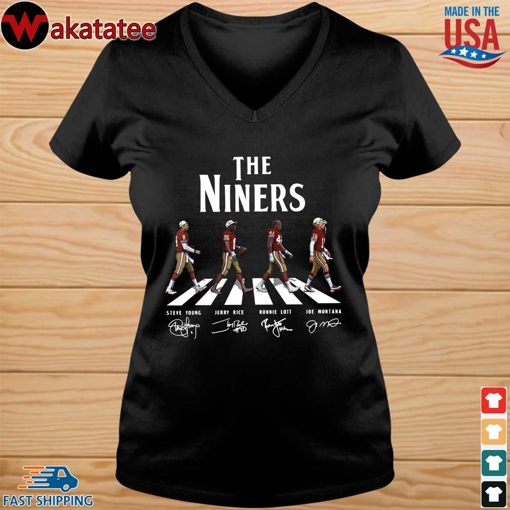 Abbey road the niners signatures s vneck den
