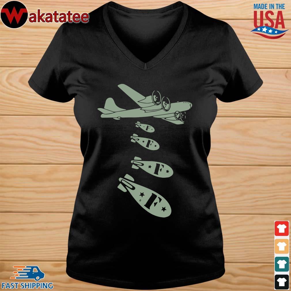 Bomber Dropping F Bomb Shirt vneck den