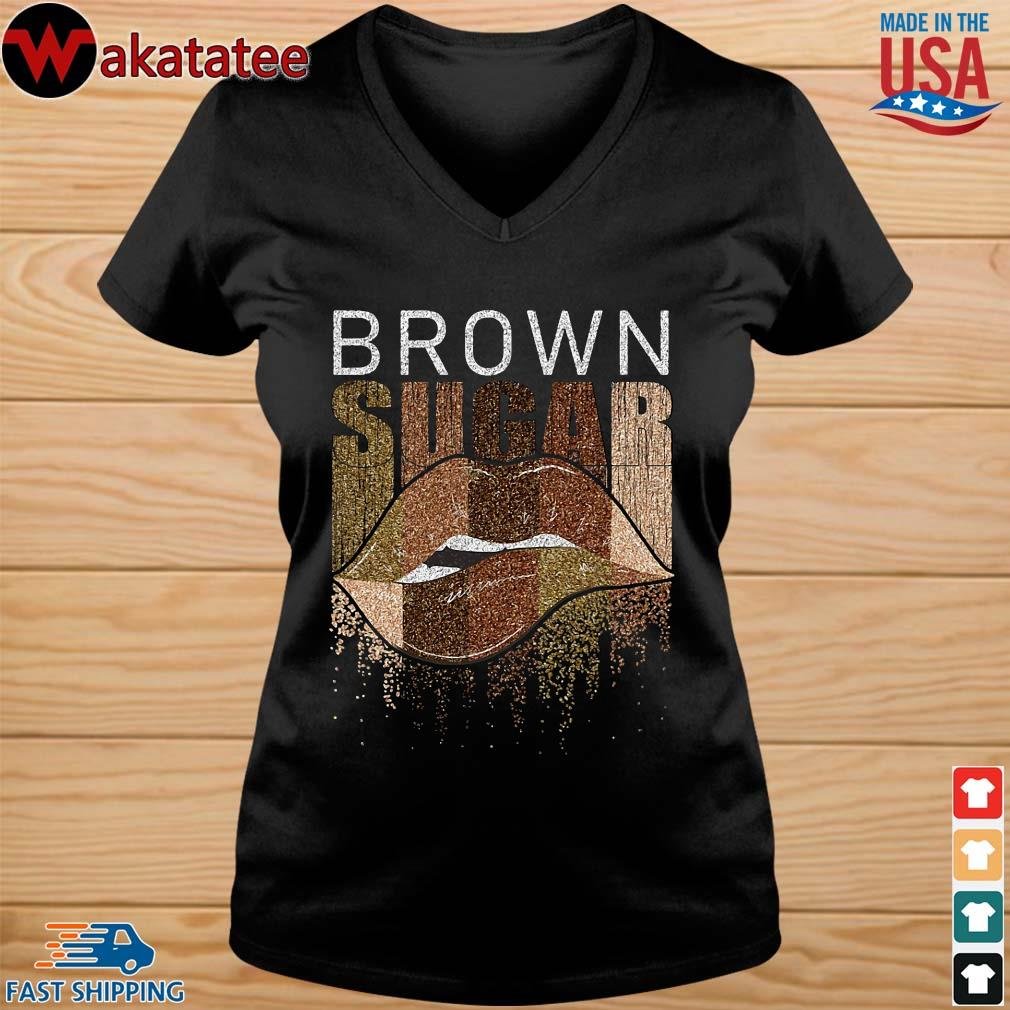 Brown sugar lip shirts vneck den