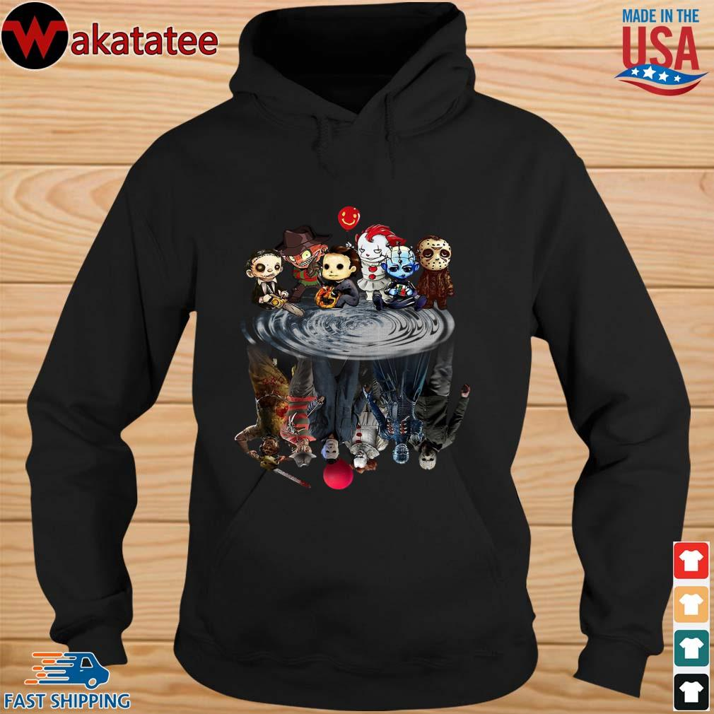 Chibi Horror Characters Horror movie Characters reflection s hoodie den