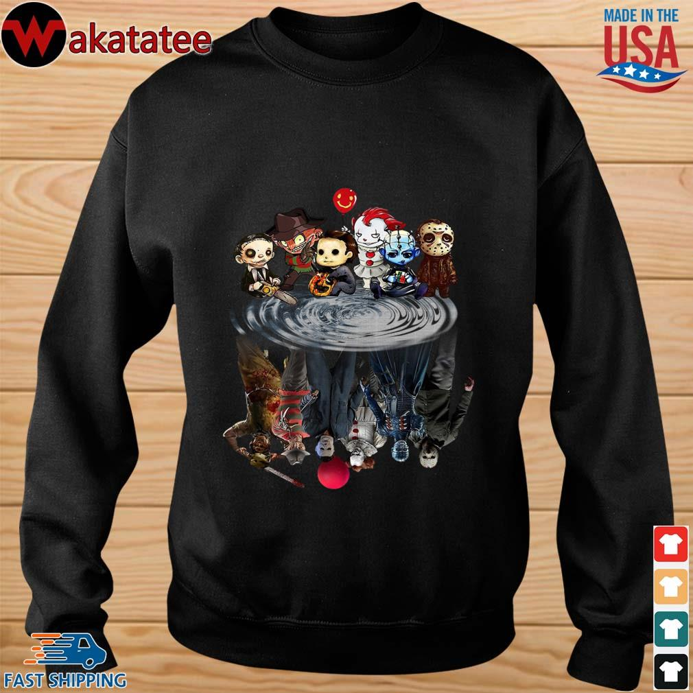 Chibi Horror Characters Horror movie Characters reflection s sweater den
