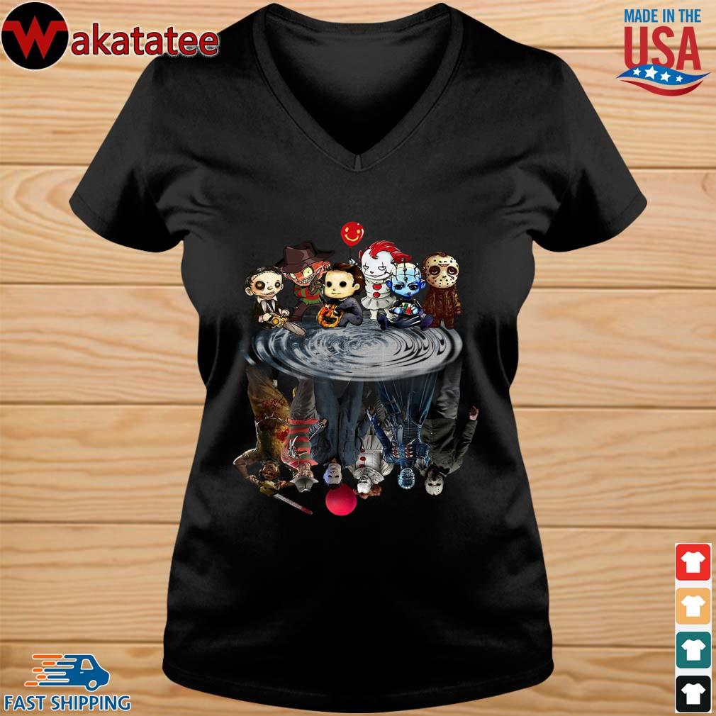 Chibi Horror Characters Horror movie Characters reflection s vneck den