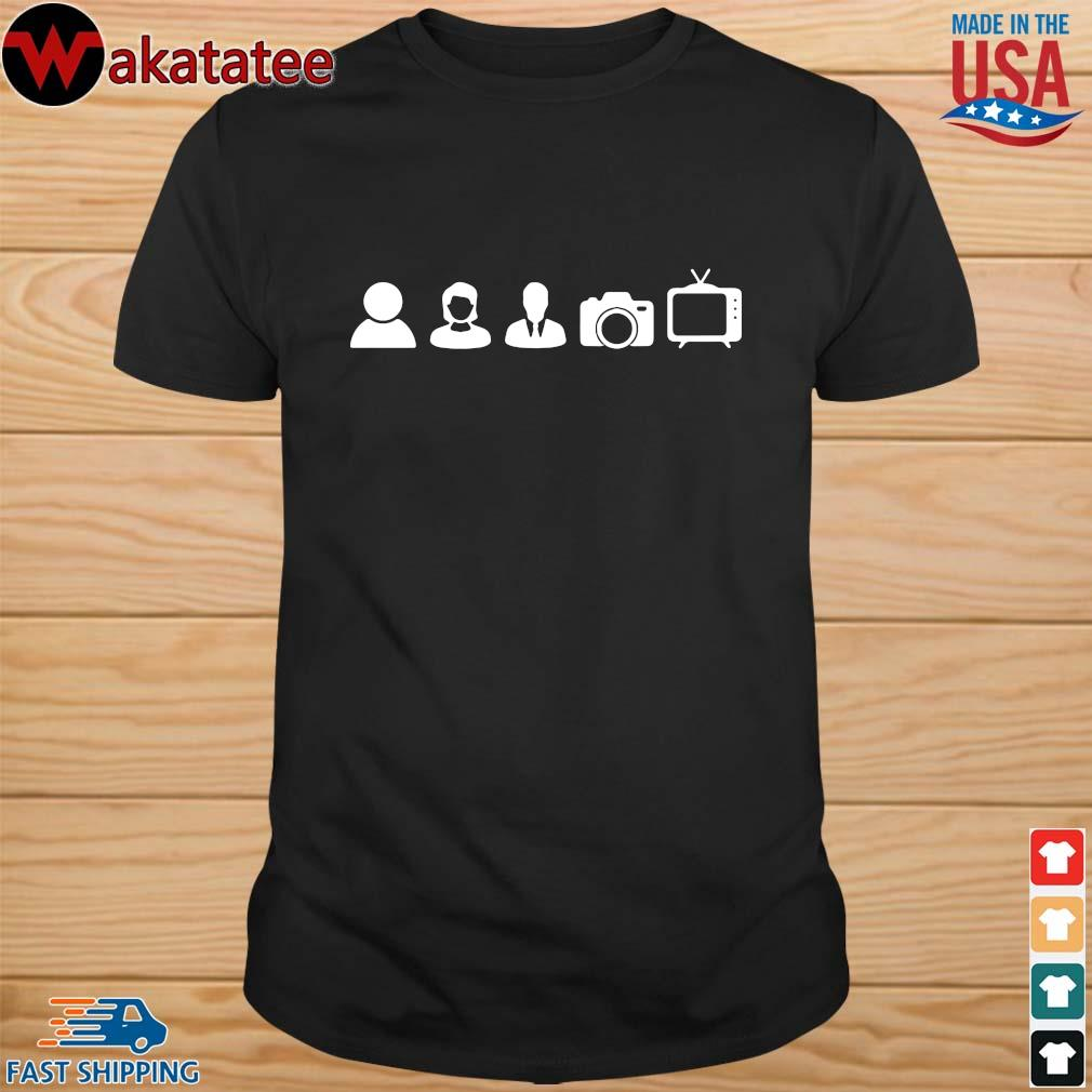 Funny anti Trump gift, person woman man camera TV, cognitive test, vote him out, Joe Biden for president, stable genius shirt