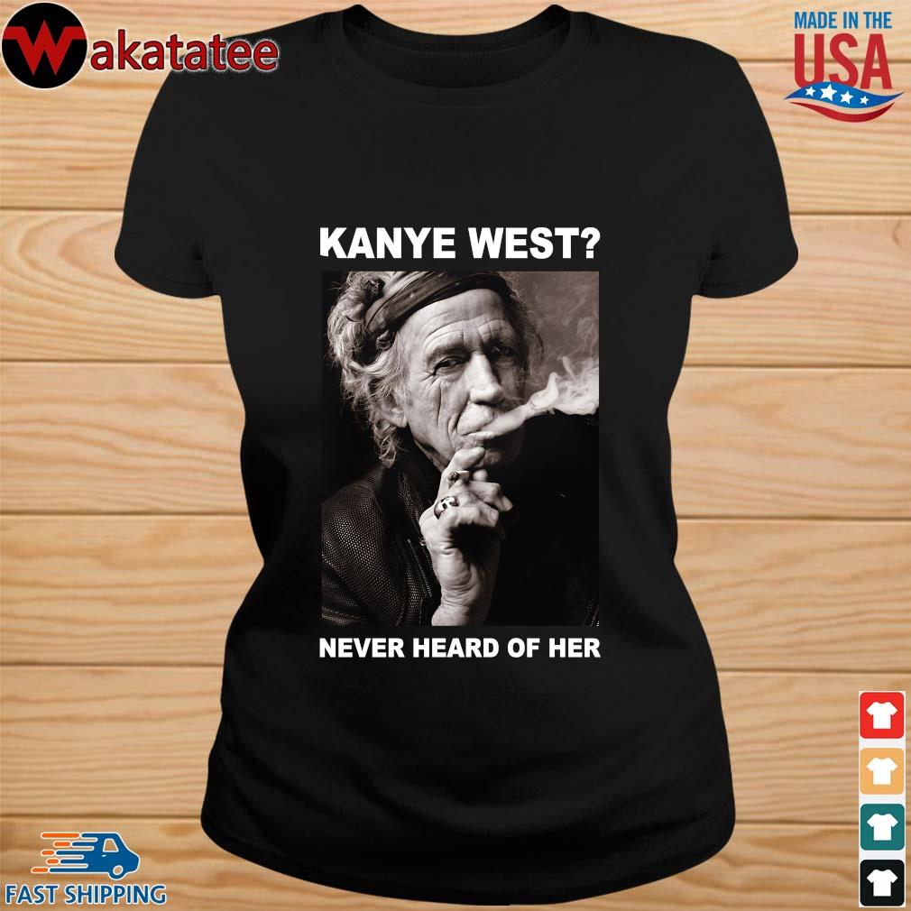 Keith Richards kanye west never heard of her s ladies den