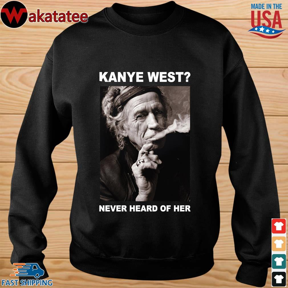 Keith Richards kanye west never heard of her s sweater den
