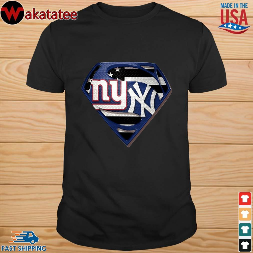 Superman New York Giants And New York Yankees Shirt