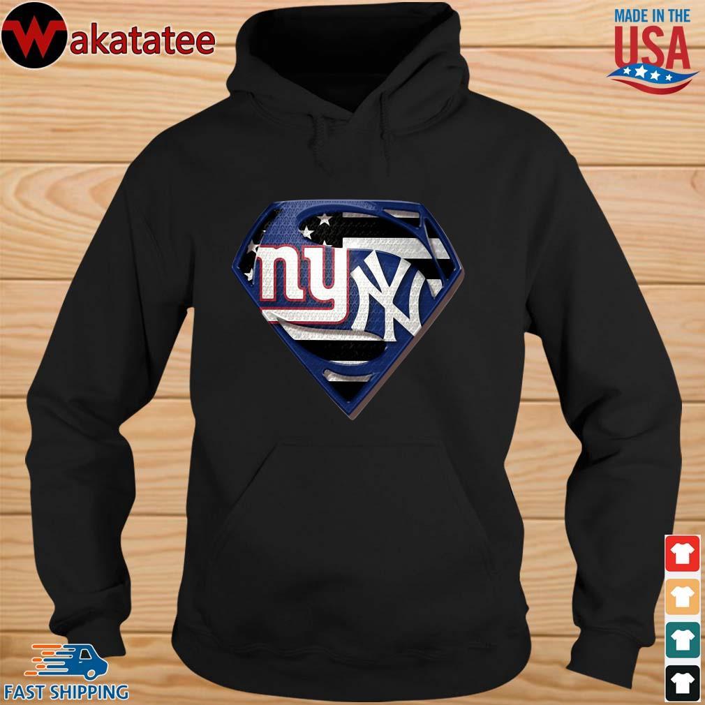 Superman New York Giants And New York Yankees Shirt hoodie den