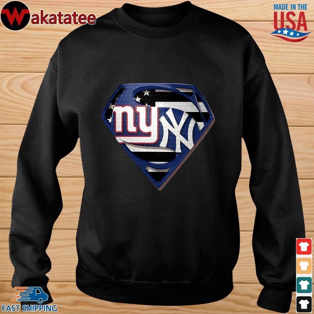 Superman New York Giants And New York Yankees Shirt sweater den