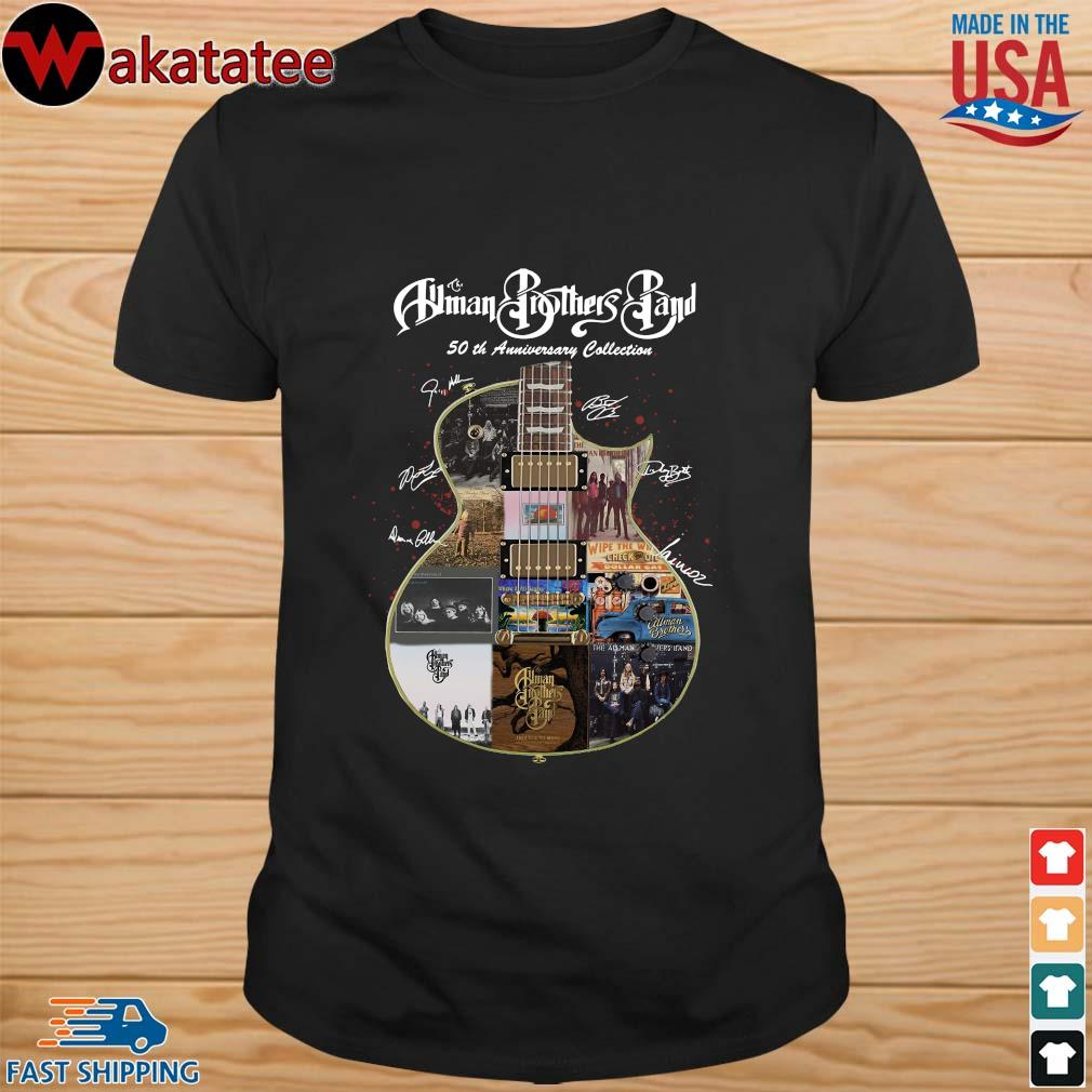 The Allman Brothers Band 50th Anniversary Collection Guitar Signature Shirt