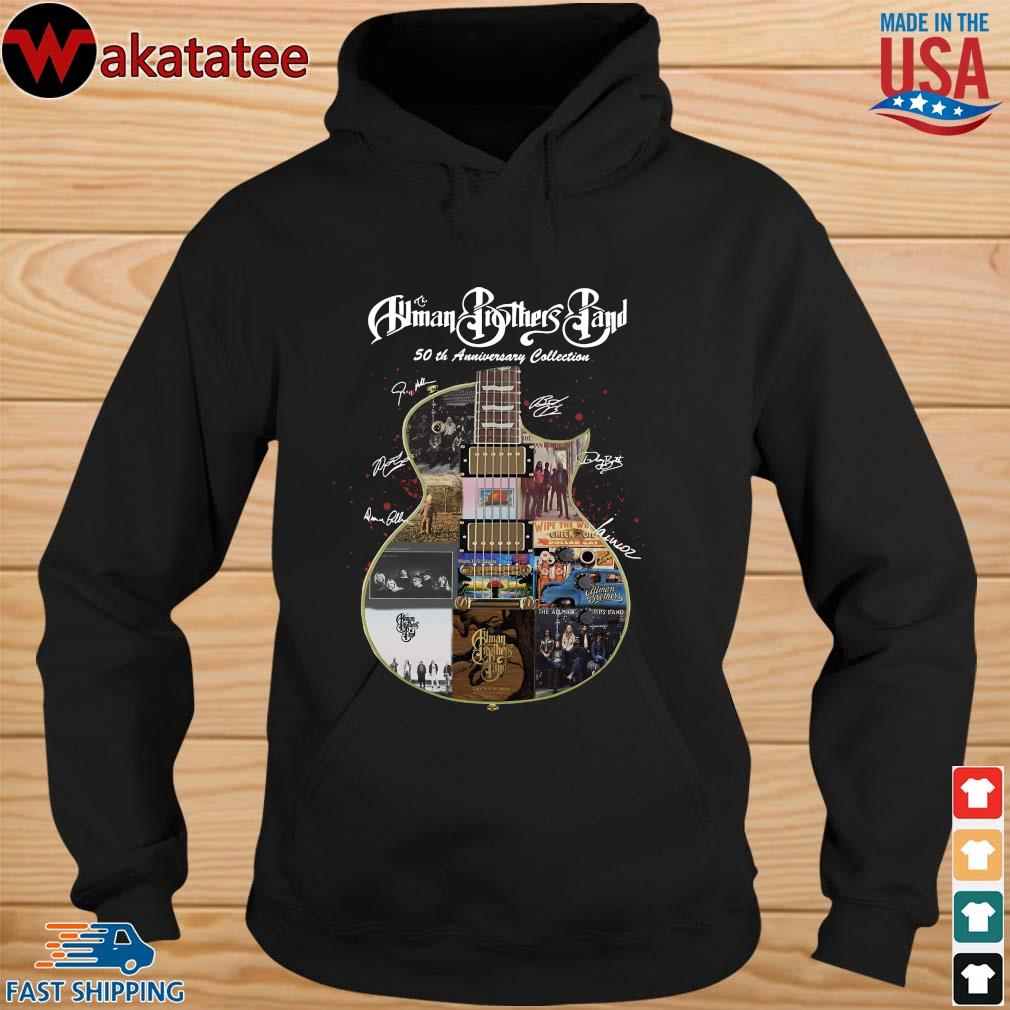 The Allman Brothers Band 50th Anniversary Collection Guitar Signature Shirt hoodie den