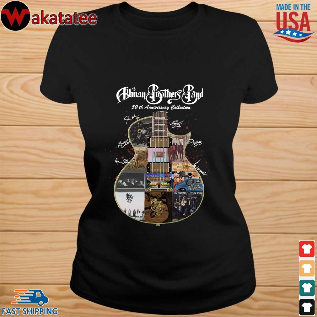 The Allman Brothers Band 50th Anniversary Collection Guitar Signature Shirt ladies den