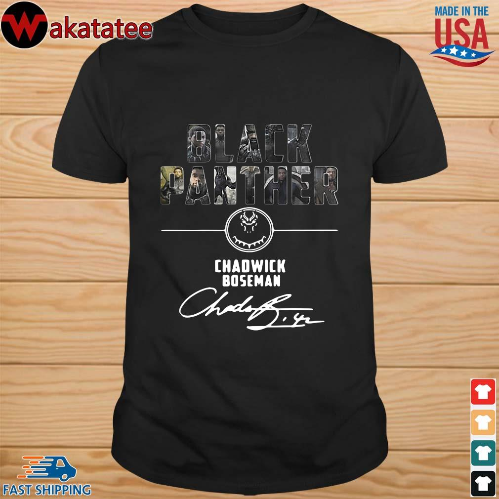Black Panther Chadwick Boseman signature shirt