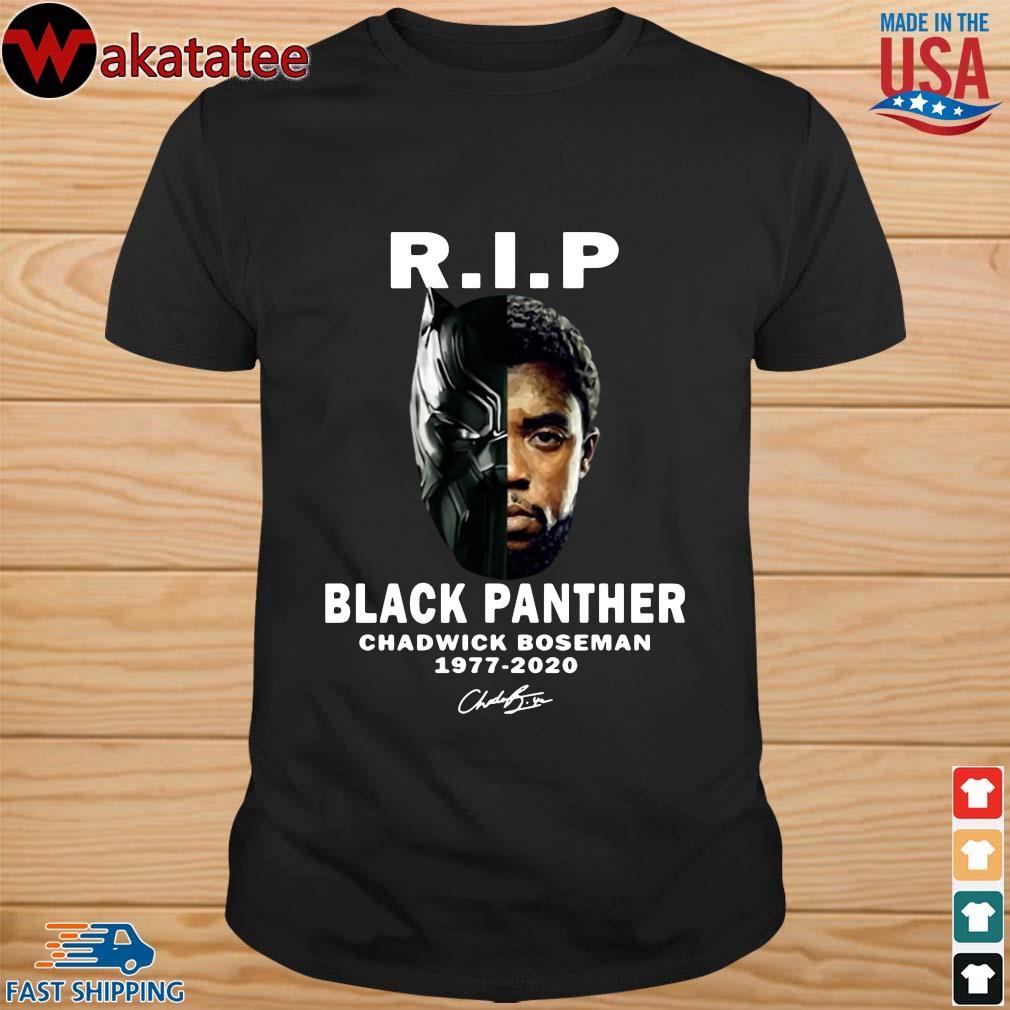 Black Panther Rip Chadwick Boseman 1977-2020 signature shirt