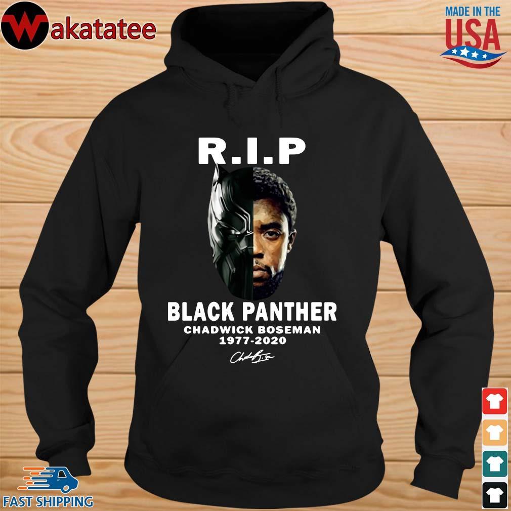 Black Panther Rip Chadwick Boseman 1977-2020 signature s hoodie den