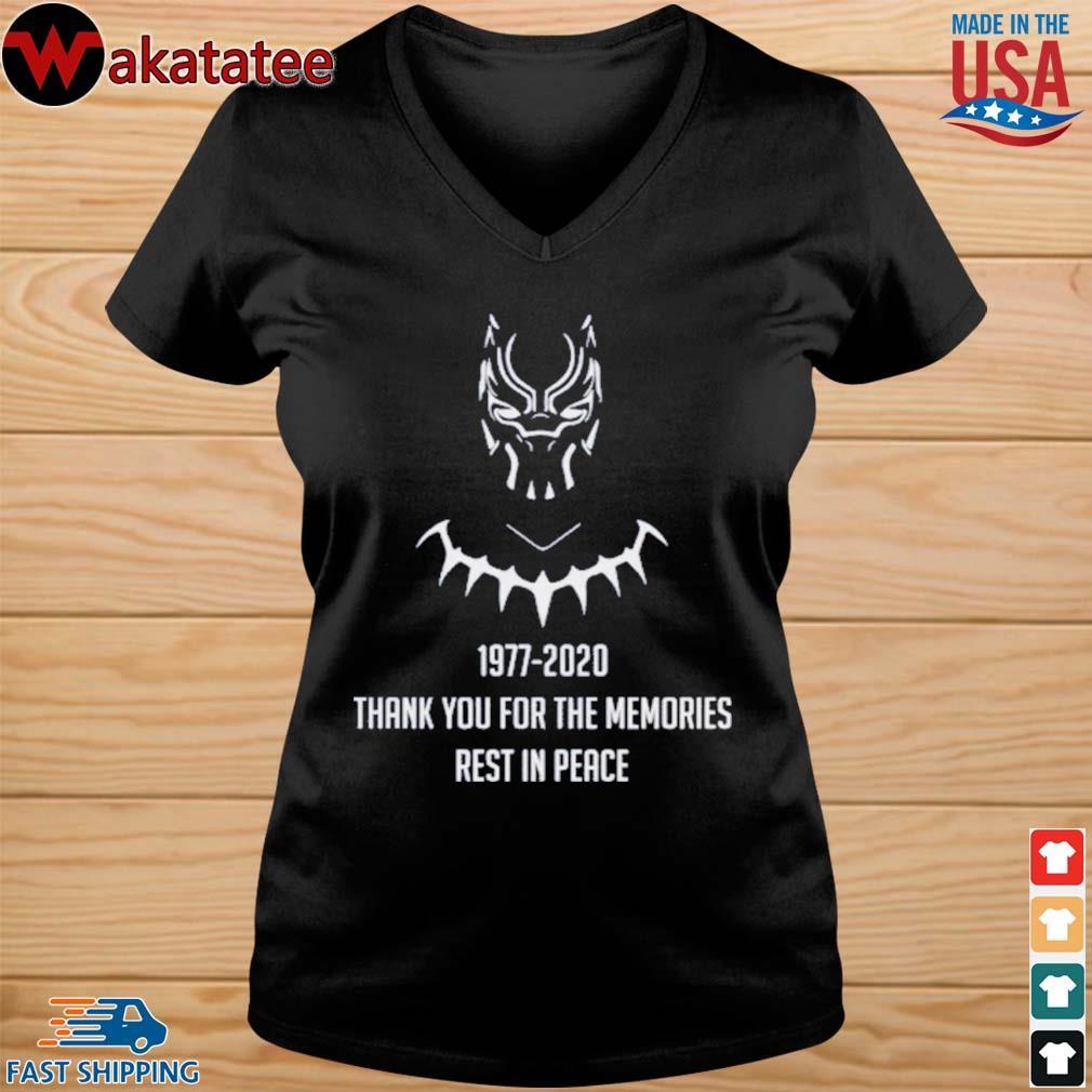 RIP CHADWICK BOSEMAN BLACK PANTHER T-Shirts vneck den