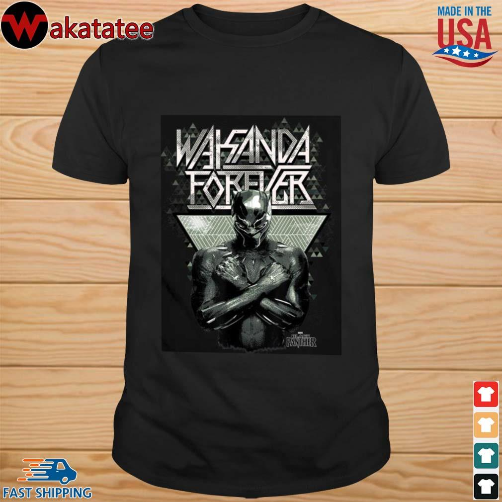Rip Chadwick Boseman Marvel Black Panther Wakanda Forever Prism Patterned Shirt