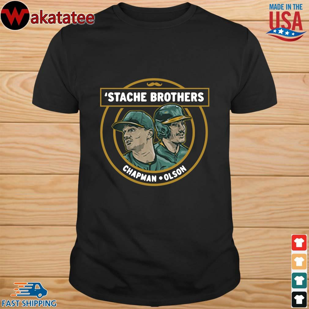 'Stache brothers matt chapman and matt Olson Oakland shirt