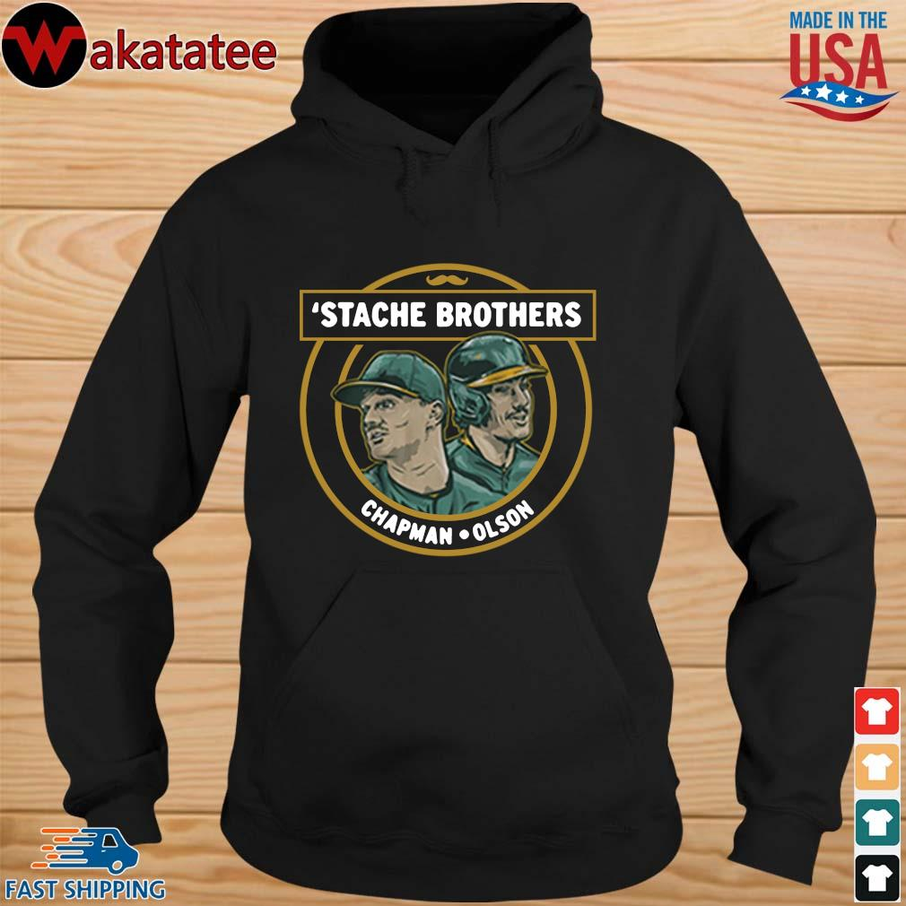 'Stache brothers matt chapman and matt Olson Oakland s hoodie den