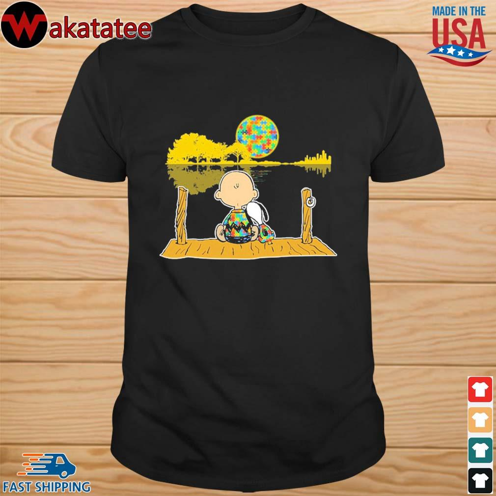 Autism Awareness Charlie Brown Snoopy Whisper Words Of Wisdom Let It Be shirt