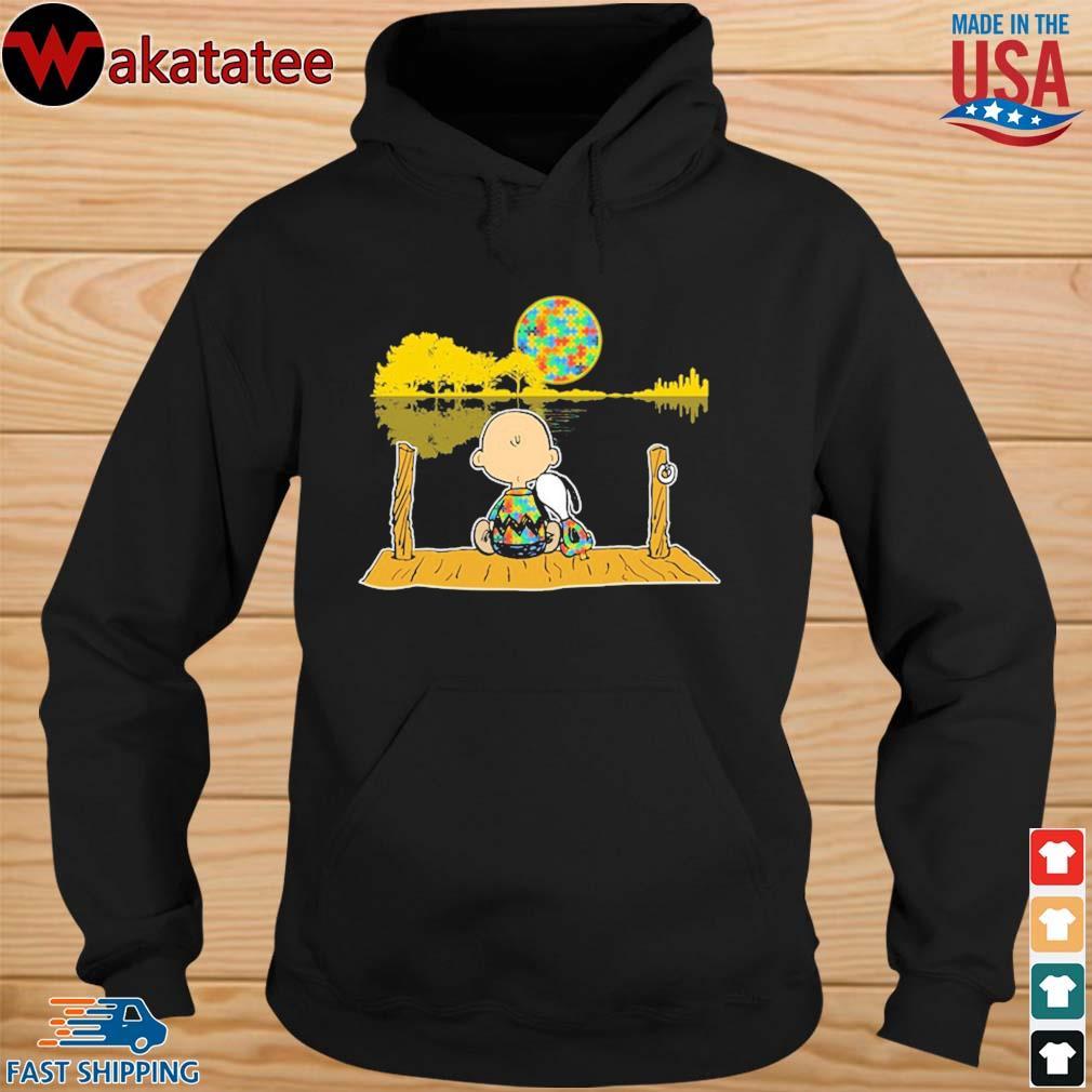 Autism Awareness Charlie Brown Snoopy Whisper Words Of Wisdom Let It Be s hoodie den