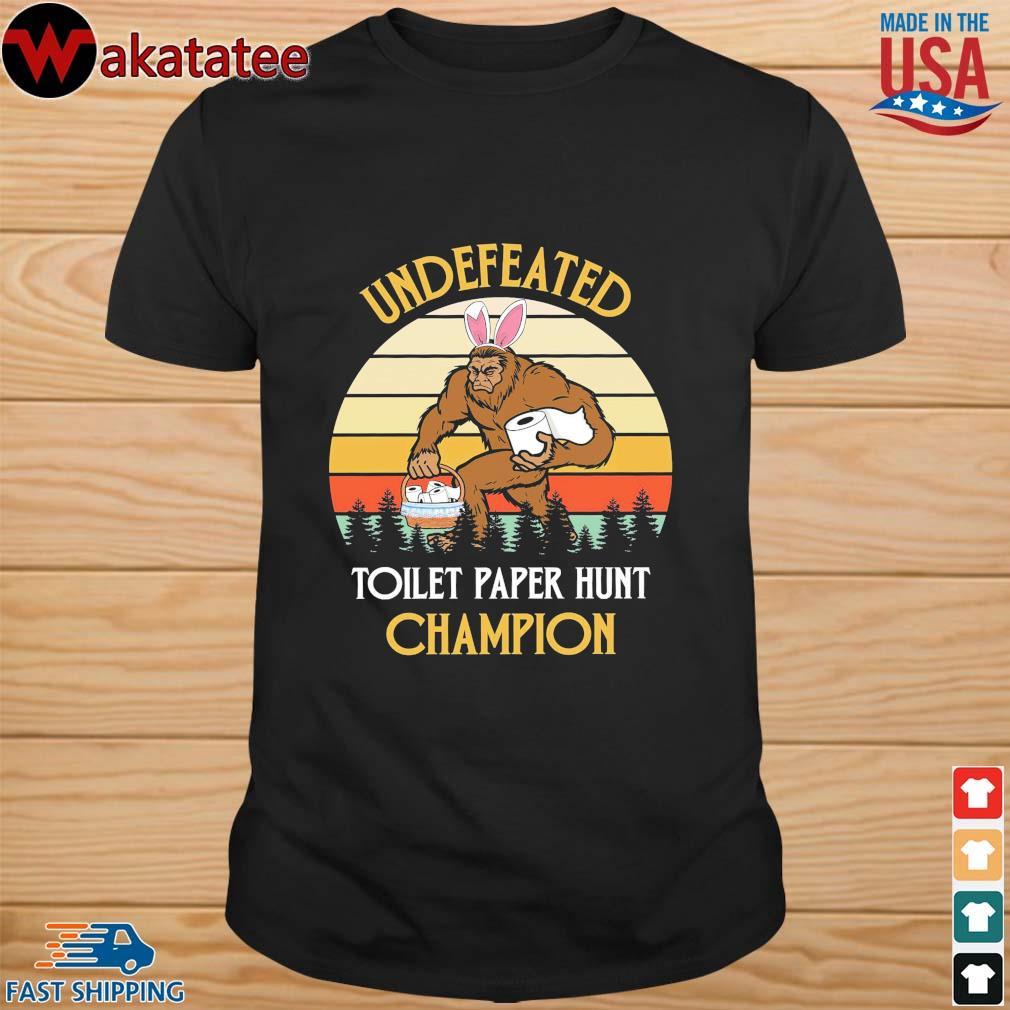 Bigfoot undefeated toilet paper hunt champion vintage shirt