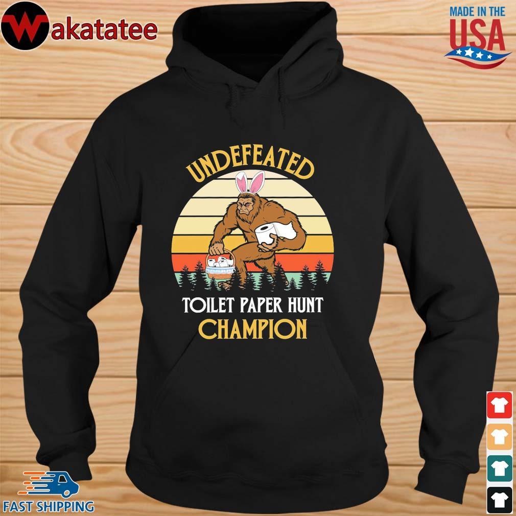 Bigfoot undefeated toilet paper hunt champion vintage s hoodie den