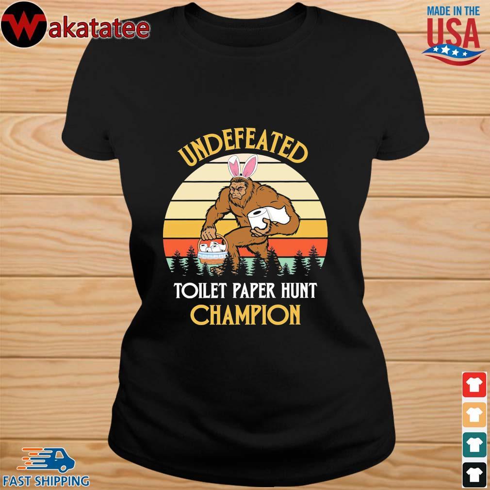 Bigfoot undefeated toilet paper hunt champion vintage s ladies den