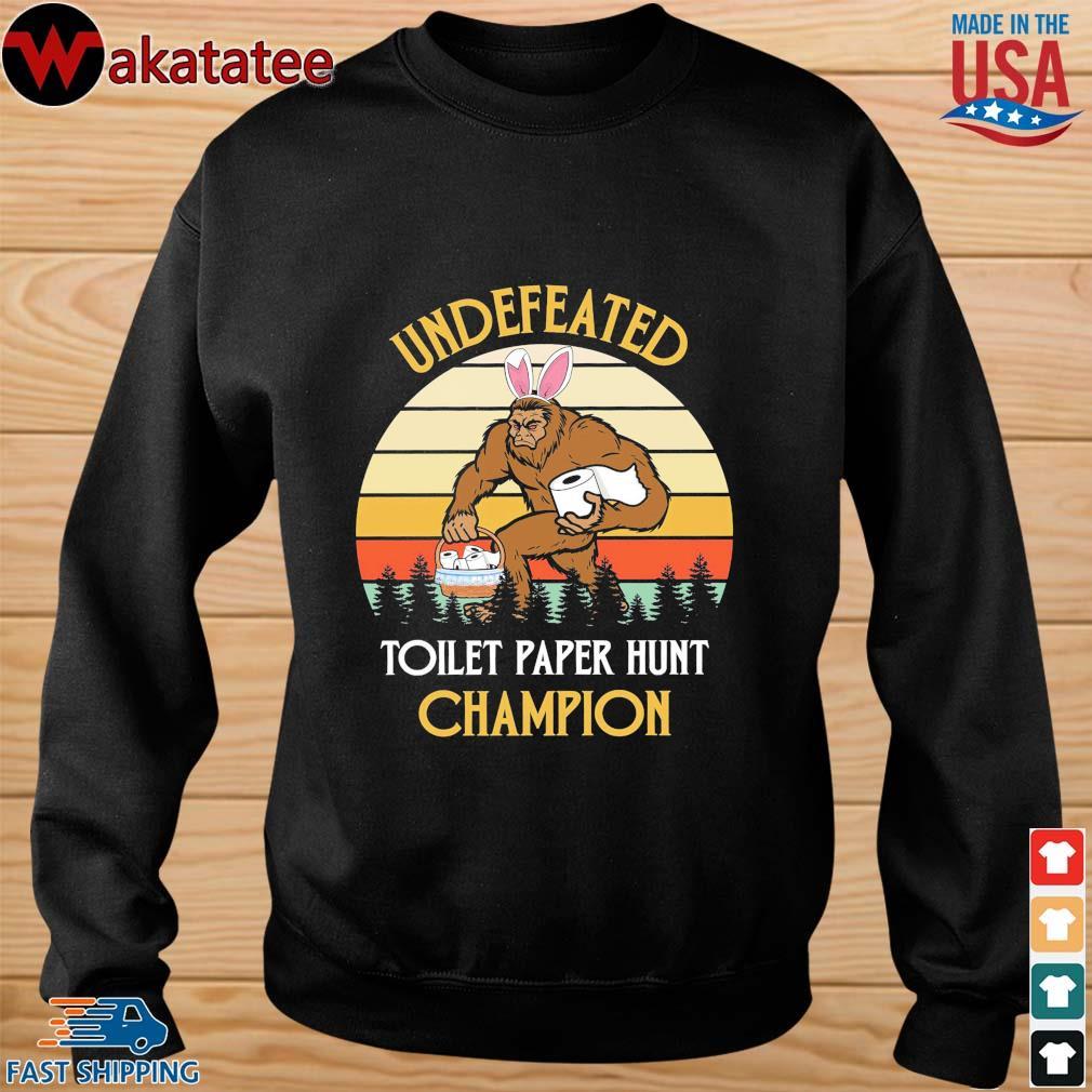 Bigfoot undefeated toilet paper hunt champion vintage s sweater den